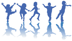 Cartoon of children dancing