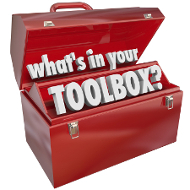 "Red toolbox with the words ""What's in your toolbox?"""