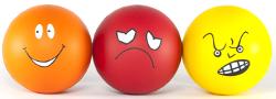 Cartoon faces - happy, sad, angry