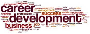 Word cloud focused around Career Development