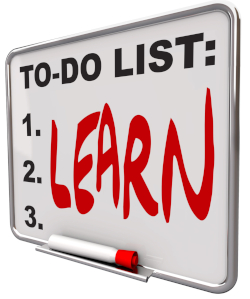 """Whiteboard reading """"To-Do List: LEARN"""""""