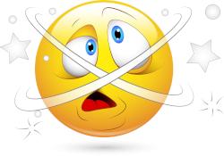 Dizzy, disoriented emoji